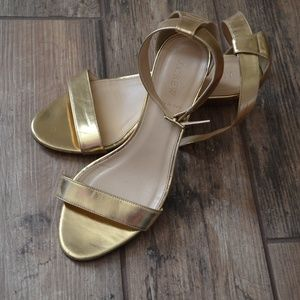 J. Crew | Lillian Mirror Metallic Wedge